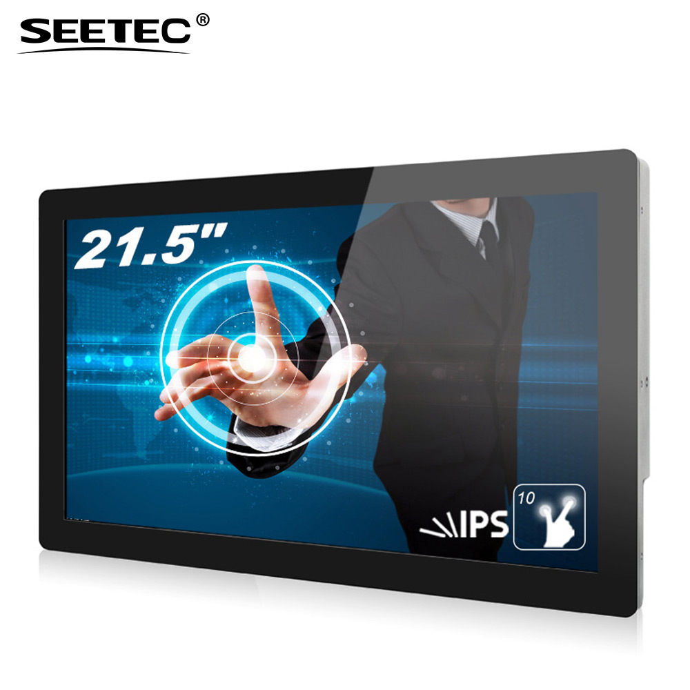 22 inch full hd 10 points touch media player TFT lcd in store display screen for digital advertising display equipment