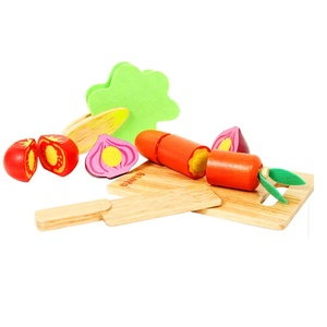 Vegetables Chopping Board Wooden Kitchen Toy Set