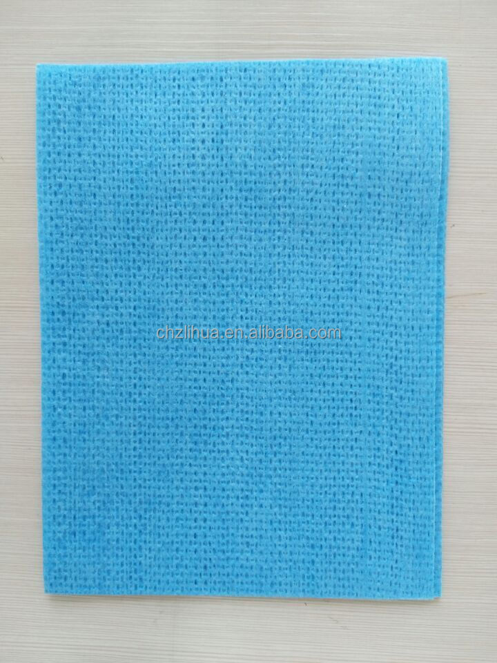 Polyester/viscose spunlace cleaning cloth/nonwoven wipe towel/J-cloth Manufacturer
