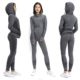 Popular design fitness yoga wear pretty girls running tracksuit sets jacket