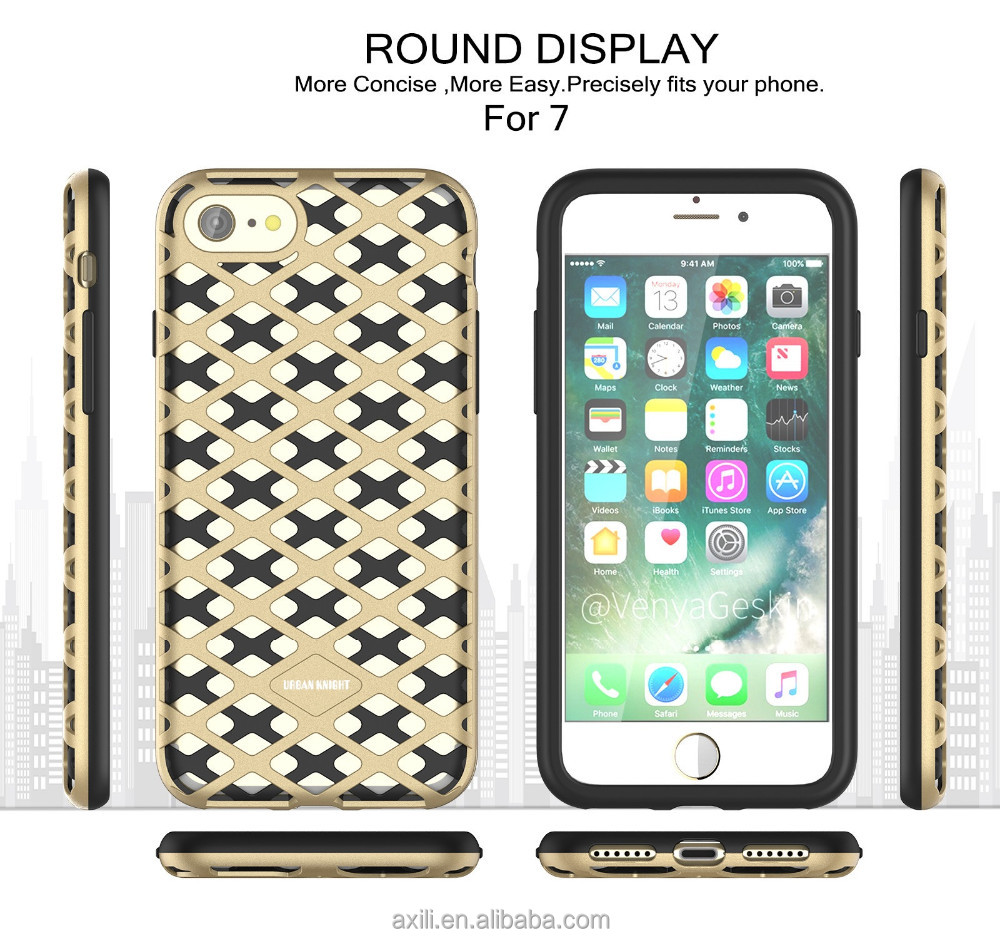 cool net hollow cell phone case for iphone 7 7 plus 6 6 plus 5 SE heat cooling hollow hole phone case cover for iphone 7 7 plus