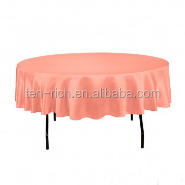 Satin table cover/table linen /table cloth for wedding event decoration