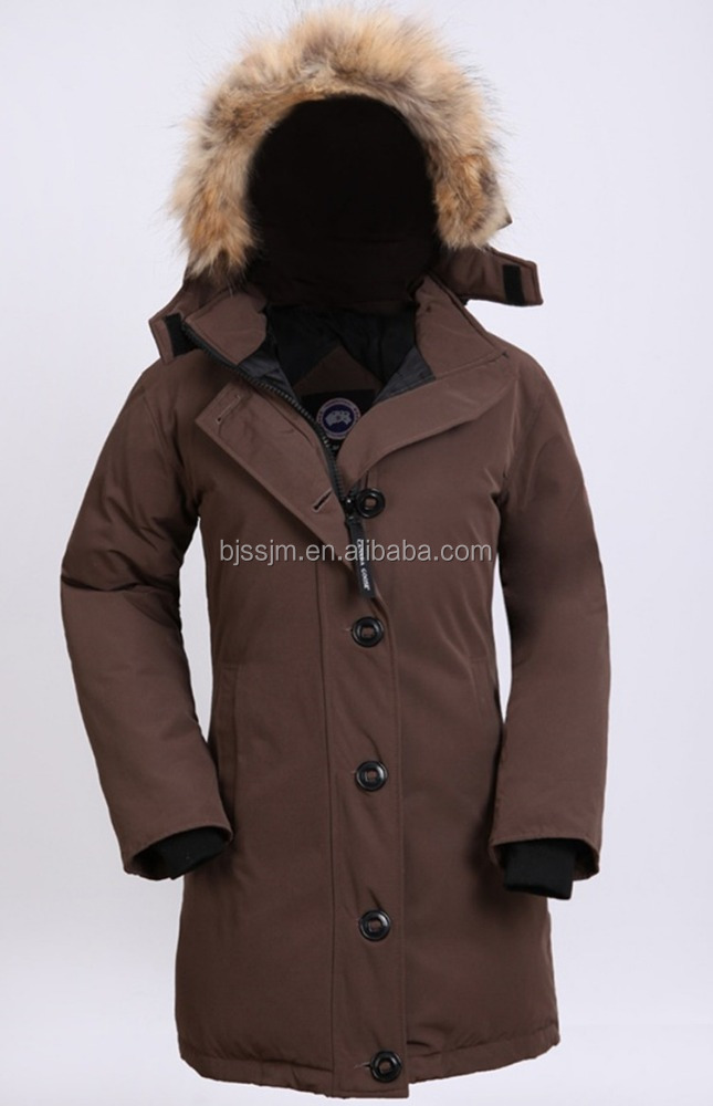 women down jacket for winters with raccoon fur collar,women down coat with detachable fur collar