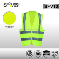 EN ISO 20471 Safety Equipment Road Safety Product 100% Polyester Fabric Hi Vis Vest Chaleco Reflectante