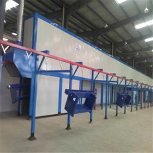 Automatic powder spraying coating line for mass production