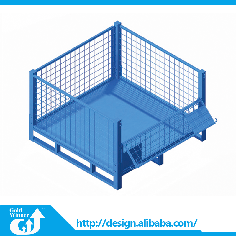 Lockable Folding Galvanized Wire Mesh Steel Storage Cage With Half Door