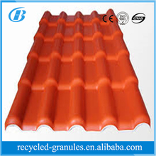 Building materials price of ASA plastic pvc roof tile/synthetic resin roof tile