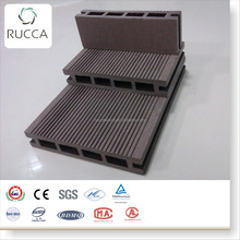 2018 RUCCA gray composite plastic wood decking price synthetic wooden decking