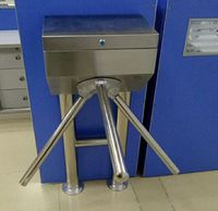 Half height prestige security barrier gate automatic turnstile RFID door entry system