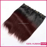 Best Colored Full Cuticle South Korea Glue Double Wefted clip in hair two tone hair extension
