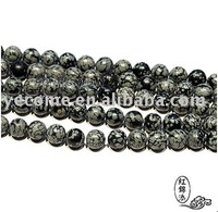 10mm.Snow Rocks and Flowers Crystal Half-Finished Round Beads