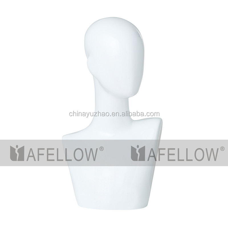 Wholesale display abstract plastic mannequin head for wigs H1087