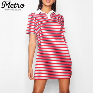 wholesale training strap summer halter polo t shirt dresses for women