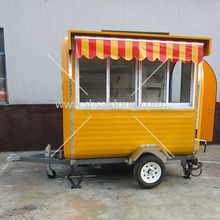 New designed mobile food cart/BBQ vending trailer with big wheels for sale