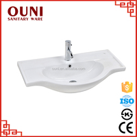 ON-316 Snow white low price space saving easy cleaning cheap ceramic hand wash basin
