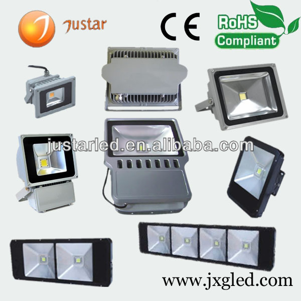 10w color changing outdoor led flood light IP65 waterproof high power high lumens industrial fixtures parts housing