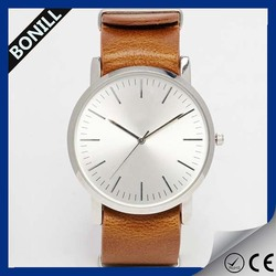 Hot style vogue wrist watch custom leather western watches customized waterproof leather watch