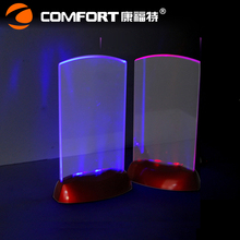 Acrylic Flashing Led Light Table Menu Restaurant Display Holder Stand