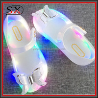 2017 trending products PVC soft kids shoes LED shoes for baby