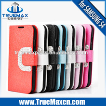 Leather case cover wallet case for samsung i9500 galaxy S4