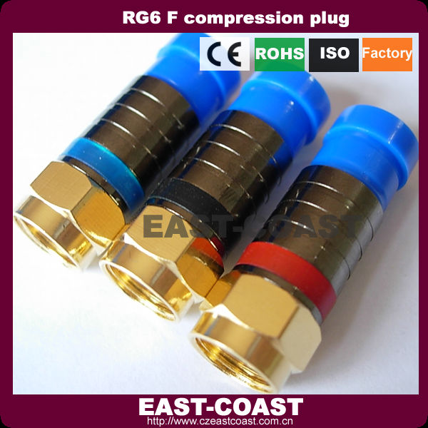 compression type rg6 conector