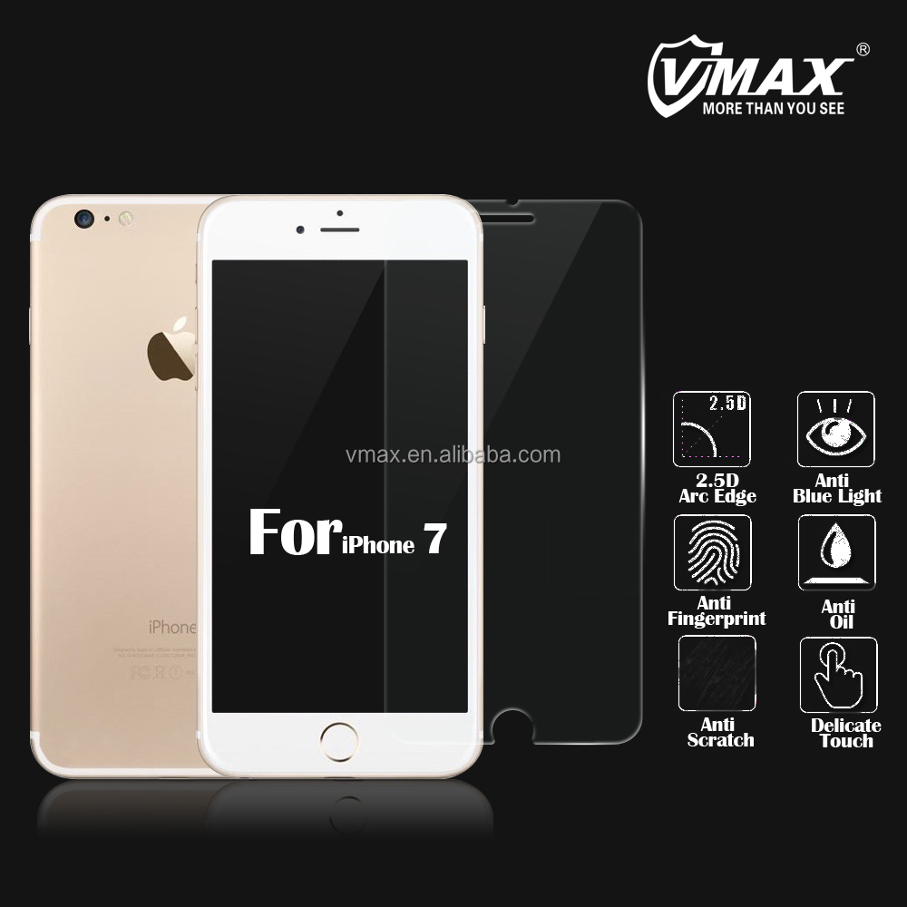 2016 New coming !! Brand Vmax supply 9H Tempered glass screen protector for iPhone 7 / iPhone 7 plus screen protector OEM ODM