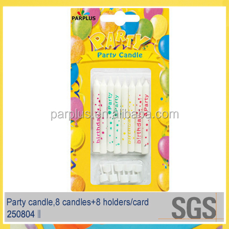 OEM Birthday Printed Party Candles for baby party use