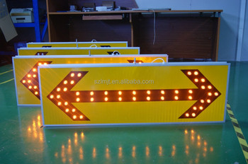 1200mm In length solar wireless road safety LED construction sign board