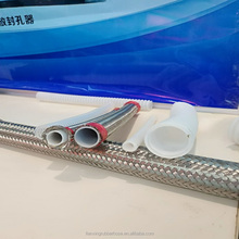 "stainless steel wire braiding flexible hose inner layer teflon/ptfe tube EPDM pipe 1/4"" 3/8"" 1/2"" 1"" 2"""