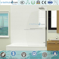 Hot sale tempered glass over bath screen made in China