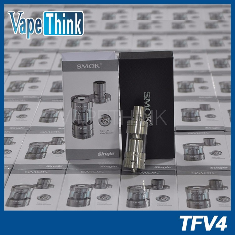 Smok Newest launch Triple and Quadruple coil No Leak Top Refill Sub Ohm Tank smok TFV4 Tank in stock