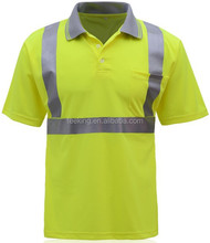 ND1528 Hot Sell Safety Workwear Hi Vis Polo Shirt