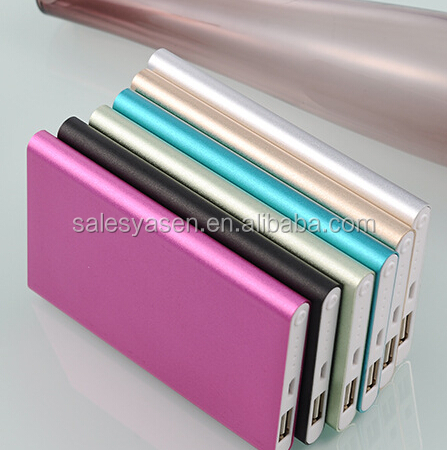 Newest 12000mAh power bank Li-Polymer battery ultra slim Power Bank Slim mobile Charger External Battery Pack