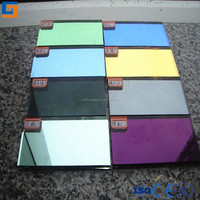 green coating color mirror glass with CE certificate