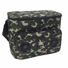 cheap camouflage 600d polyester insulated bluetooth speaker lunch cooler bag