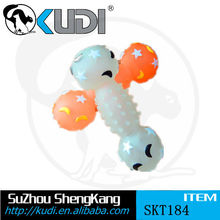 Glow pet training dumbbell with sound ball toy SKT184