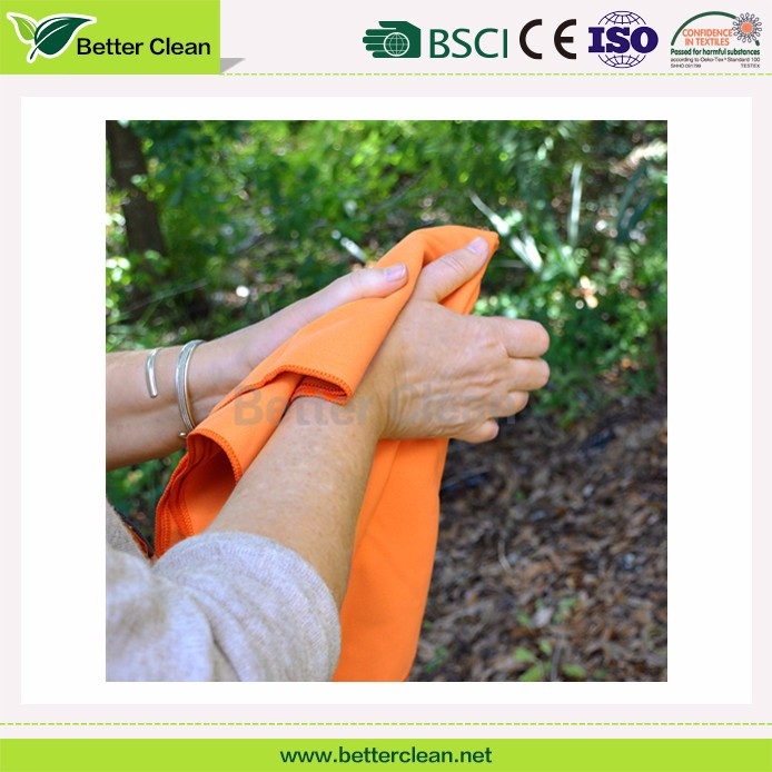 Custom color plain dyed washable microfiber cleaning hand towel