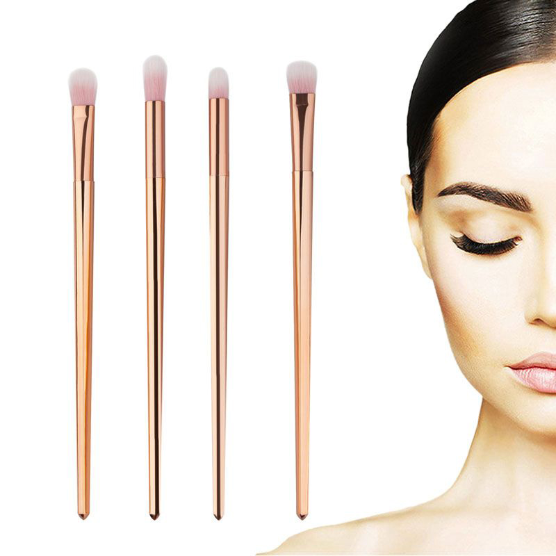 4pcs Pro Makeup Brushes Set Foundation Powder Eyeshadow Eyeliner Lip Brush Tool Blending Kit YAS