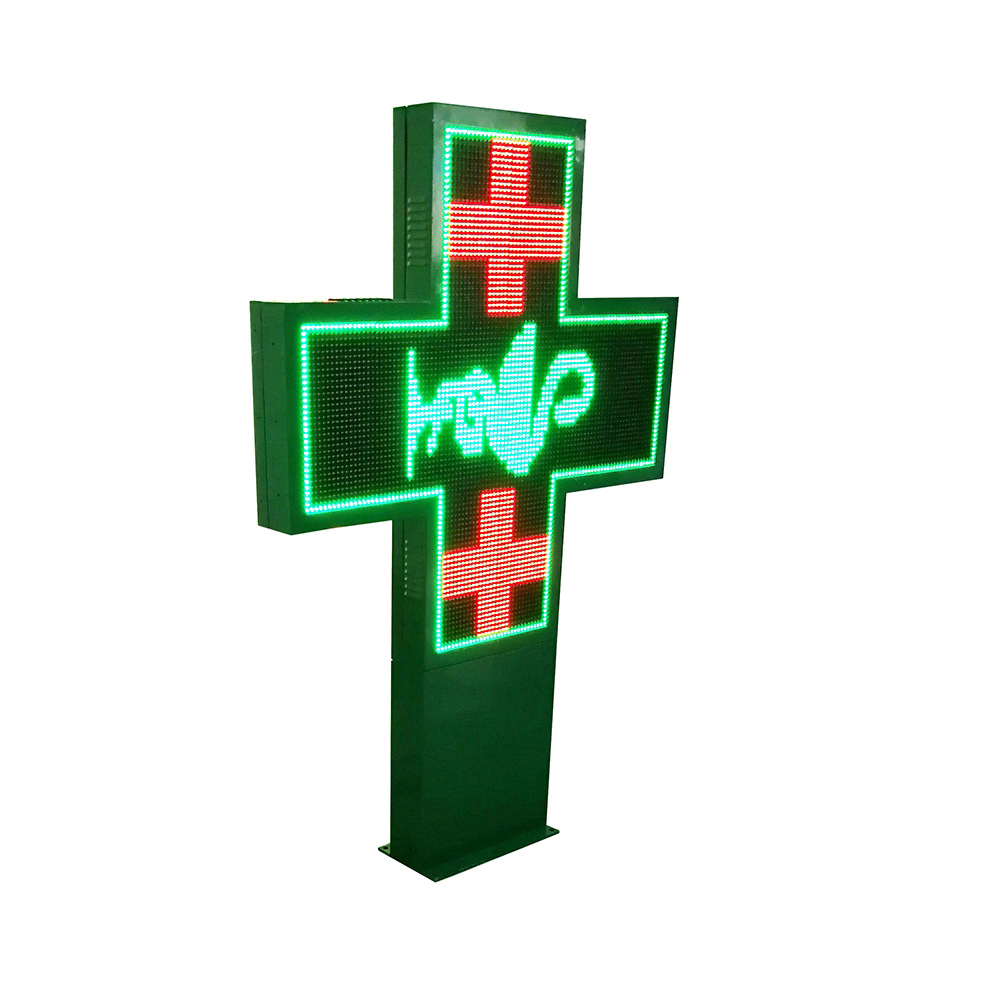Green , Red, Full color ,Double side Cross Led Sign For Clinic
