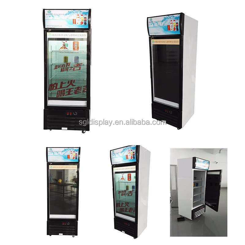 Transparent lcd display used supermarket refrigerator and freezer