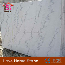Landscape White Marble Slabs,Polished Commercial White Marble Tiles for Floor,Guangxi White Marble