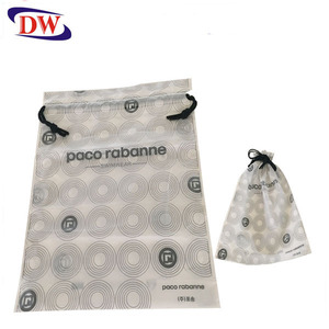 pe cpe two layers plastic drawstring laundry bag