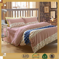 Full bedroom set pink color cheap bed sheets for discount fabric