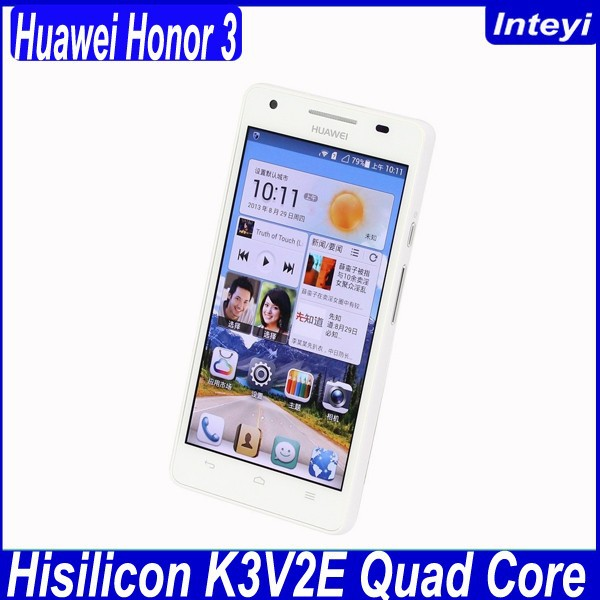 In stock!!! China mobile phone 4.7 inch huawei honor 3 android 4.2 quad core smart cell phone