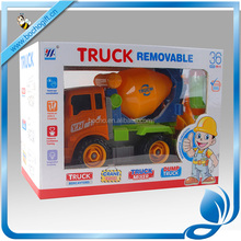 2017 children plastic truck mixer toy Engineering truck DIY plastics toys