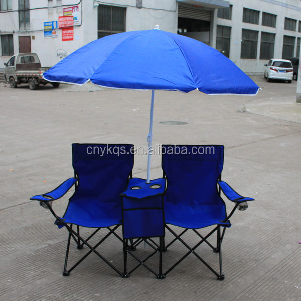 picnic double umbrella table cooler fold up beach chair