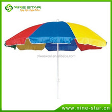 Wholesale Popular Promotions Advertising Outdoor Beach Camping Garden Sun Umbrella With Flaps Direct Manufacturer Parasol