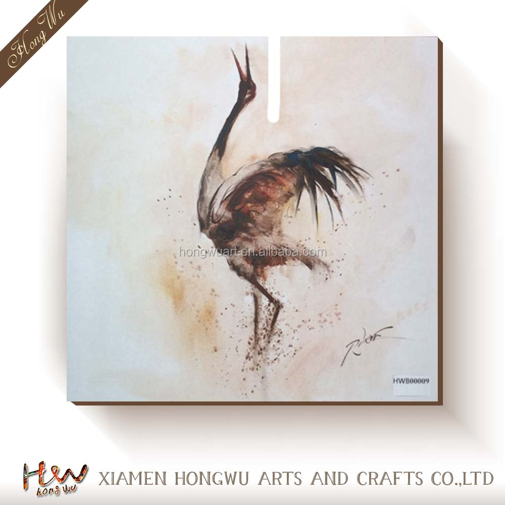 Heron Crane Bird Spread the Wing Prints On Canvas Animal Pictures Oil Wall Art Painting For Home Modern Decoration Print Deco