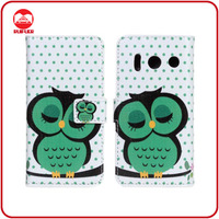 Mobile Phone Case Manufacturer Cartoon Printed Leather Case for Huawei Ascend Y300