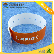 Full Color Printing Disposable PP Paper RFID Wristband